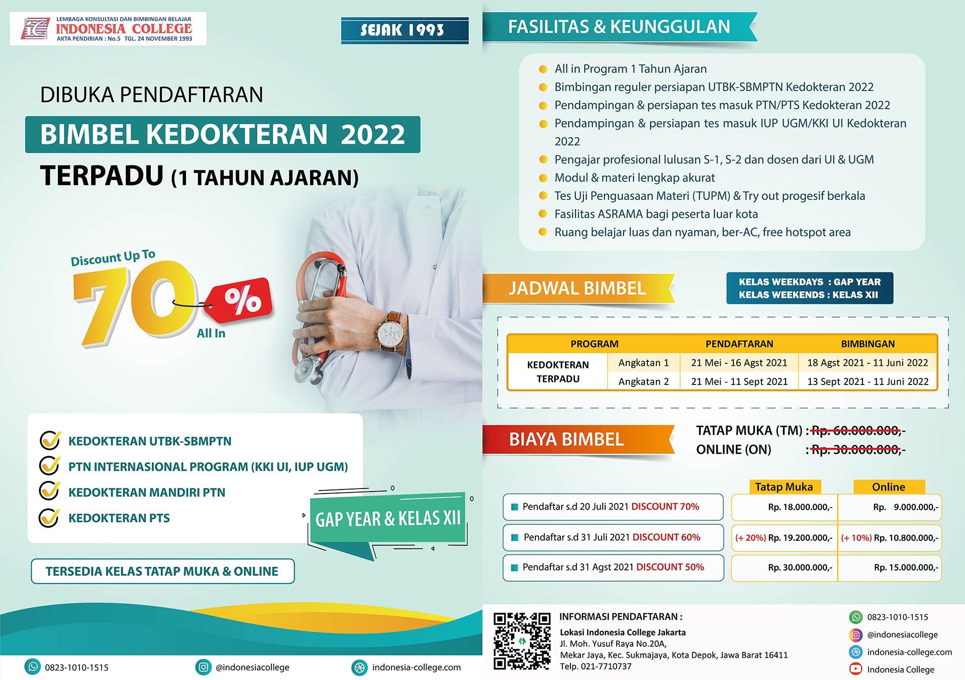 Bimbel Kedokteran TERPADU 2022